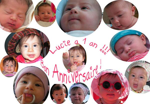 Lucie un an !